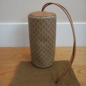 RARE 1970's ~GUCCI~ Monogram Round Wristlet~Clutch